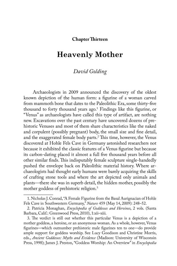 Heavenly Mother by David Golding